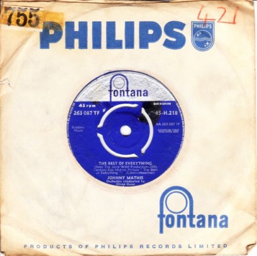 Johnny Mathis - Best of everything - Fontana UK 3651