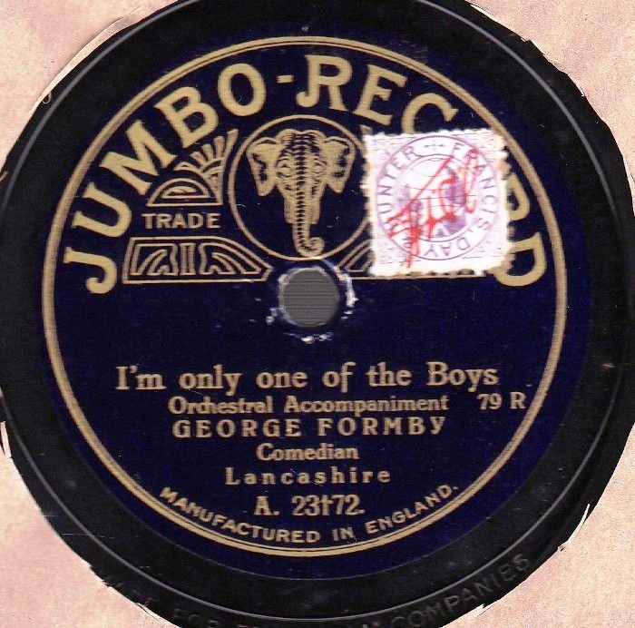 George Formby - I'm only one of the Boys - Jumbo 23172