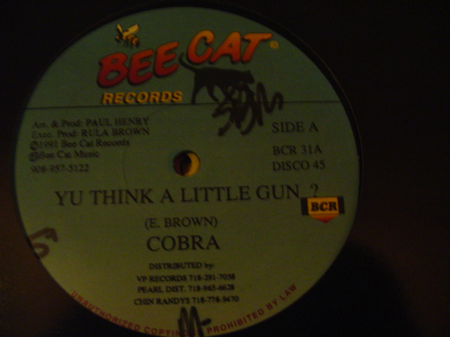 COBRA - DERRICK PARKER - BEE CAT RECORDS { K 10