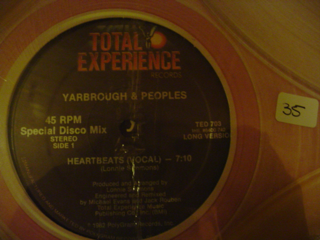 YARBROUGH & PEOPLES HEARTBEATS { K 35
