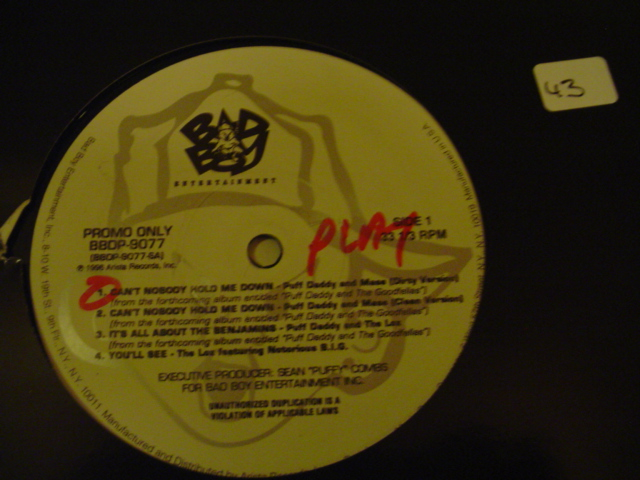 PUFF DADDY - CANT NOBODY HOLD ME DOWN PROMO { K 43