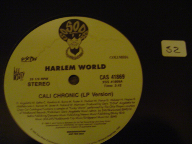 Harlem World - Cali Chronic SO SO DEF RECORDS { K 52