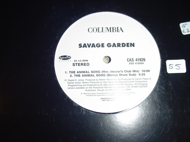 Savage Garden - The Animal Song COLUMBIA PROMO { K 55