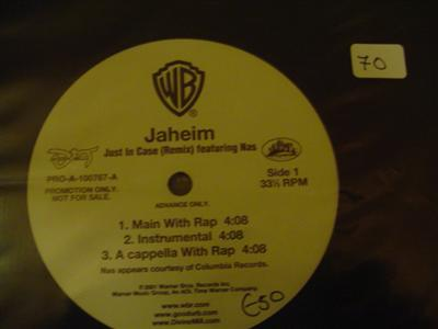JAHEIM - JUST IN CASE - WARNER PROMO { K 70