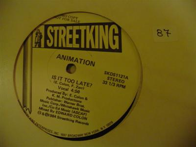 ANIMATION - IS IT TOO LATE - STREETKING PROMO { K 87