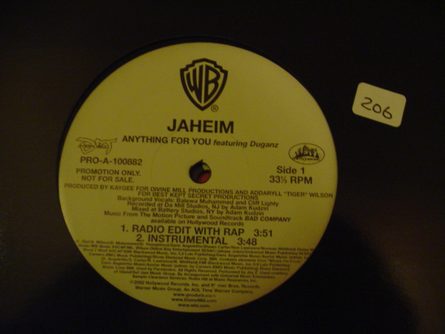 JAHEIM - ANYTHING FOR YOU - WB PROMO { K 111