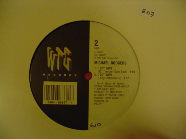 Michael Rodgers - I GOT LOVE - WTC RECORDS { K 207