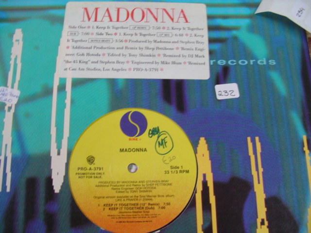 MADONNA - KEEP IT TOGETHER - PROMO 12 INCH SINGLE { K 242