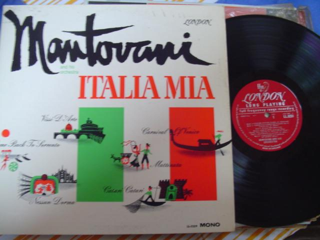 MANTOVANI - ITALIA MIA - LONDON MONO { MV 519