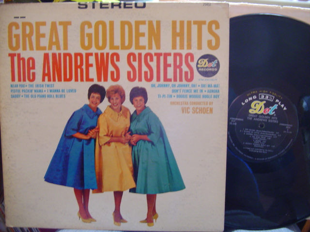 ANDREWS SISTERS - GREAT GOLDEN HITS - DOT STEREO