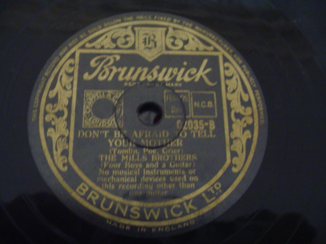 MILLS BROTHERS - SWEET LUCY BROWN - BRUNSWICK
