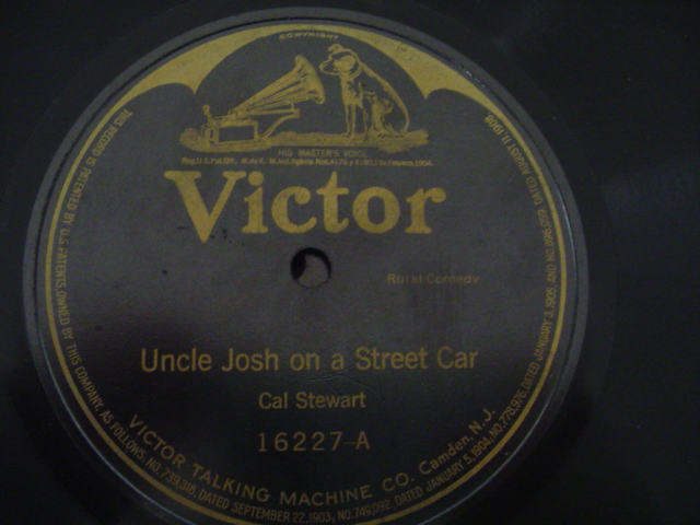CAL STEWART - UNCLE JOSH STREET CAR - VICTOR