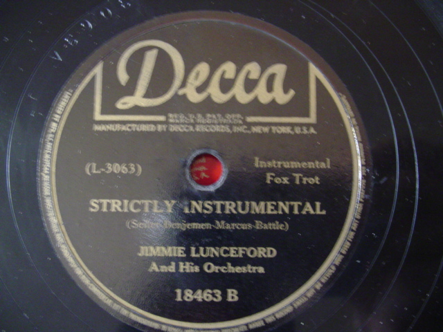 JIMMY LUNCEFORD - KNOCK ME A KISS - DECCA 18463