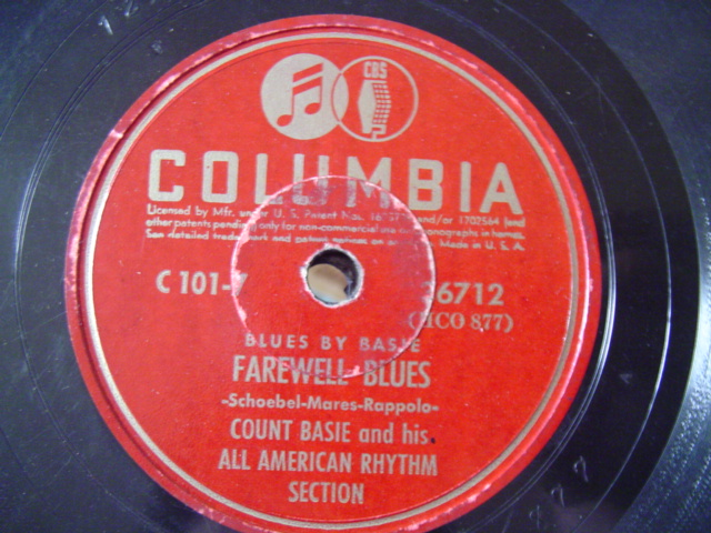 COUNT BASIE - FAREWELL BLUES - COLUMBIA 36712
