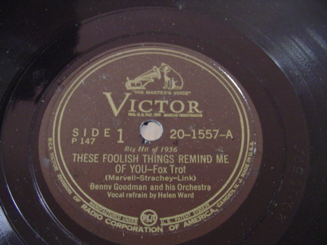 BENNY GOODMAN - ONCE IN A WHILE - VICTOR 20 - 1557