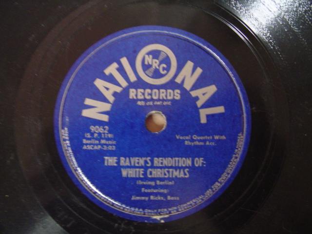 THE RAVENS - WHITE CHRISTMAS - 78 RPM - NATIONAL 9062