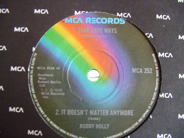 BUDDY HOLLY - MCA 4 TRACK EP - UK PRESS