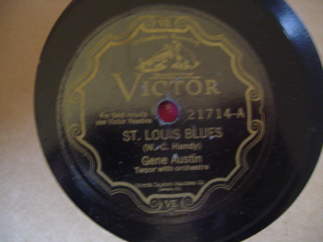 GENE AUSTIN - St LOUIS BLUES - VICTOR SCROLL