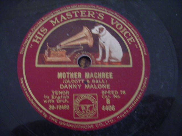 DANNY MALONE - MOTHER MACHREE - HMV
