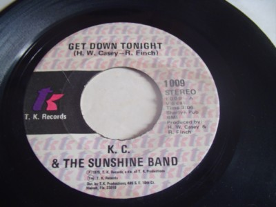 K .C SUNSHINE BAND - GET DOWN TONIGHT - TK { 2109