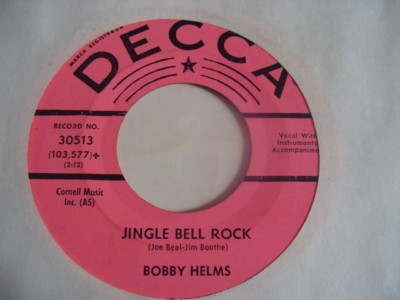 BOBBY HELMS - JINGLE BELL ROCK - DECCA { 2122