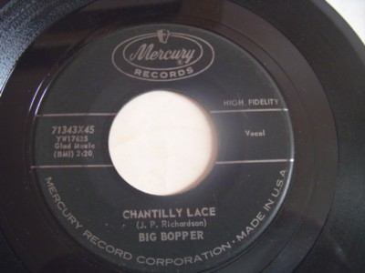 BIG BOPPER - CHANTILLY LACE - MERCURY { 2125