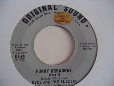 DYKE & BLAZERS - FUNKY BROADWAY - ORIGINAL SOUND { 2130