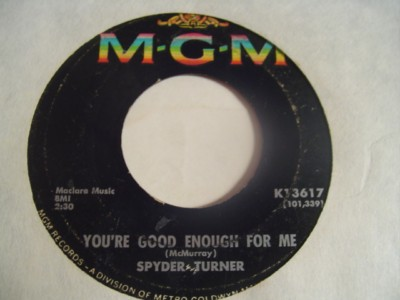 SPYDER TURNER - STAND BY ME - MGM { 2137