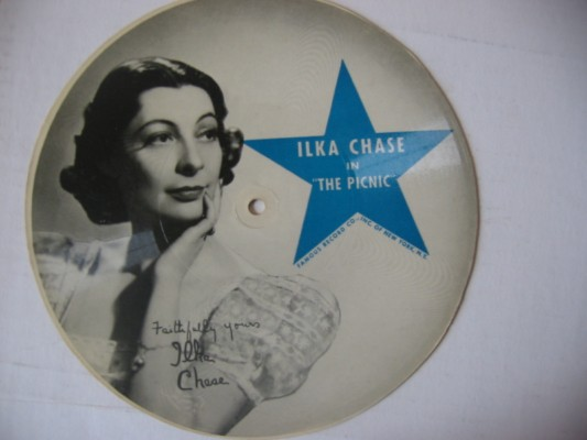 ILKA CHASE - THE PICNIC - RARE PICTURE DISC