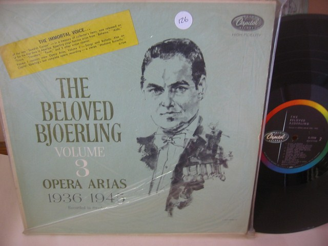 JUSSI BJORLING - THE BELOVED VOL 3 - CAPITOL { 126