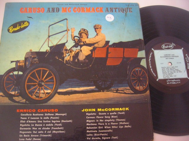 CARUSO & McCORMACK - MUSICAL ANTIQUE - ALLEGRO - MV 29