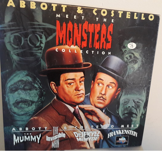 Abbott & Costello - Meet the Monsters - 4 Laserdiscs Excellent