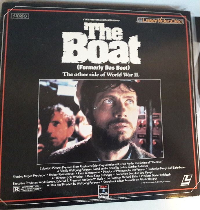 The Boat (Formerly Das Boot) Laserdisc Movie Laser Disc