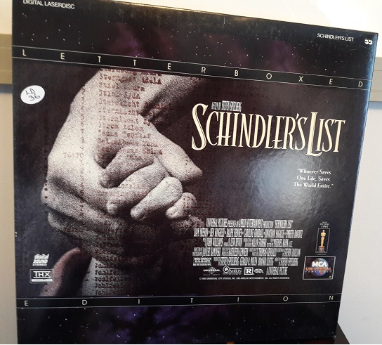 Schindler's List - MCA 41927 - 2 Laserdisc USA Excellent