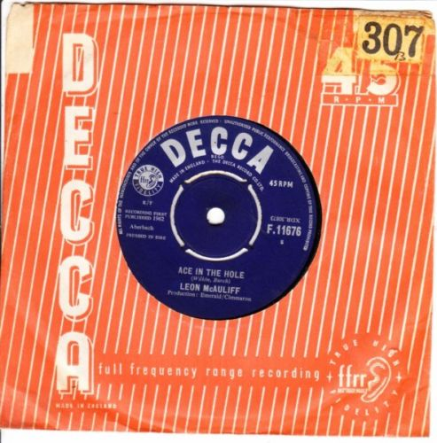 Leon McAuliff - Ace in the hole - Decca Irish 3536