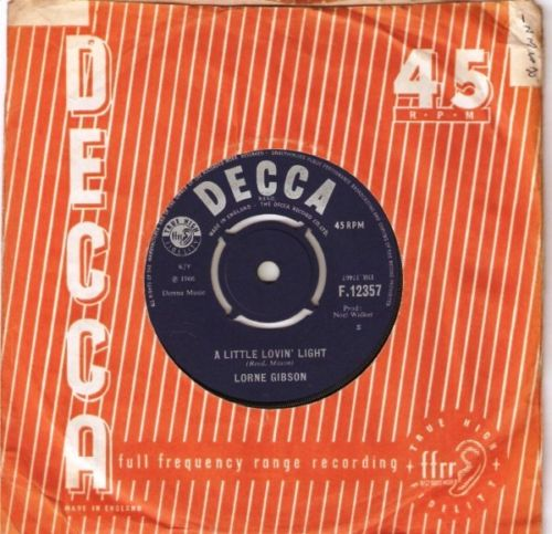 Lorne Gibson - when baby says goodbye - Decca 3240