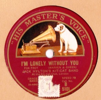 Jack Hylton - I'm lonely without you - HMV B.5101