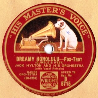 Jack Hylton - Dreamy Honolulu - HMV B.5715