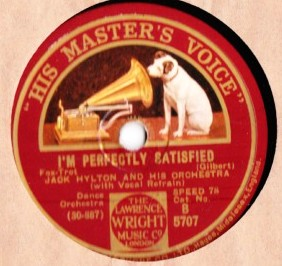 Jack Hylton - I'm perfectly Satisfied - HMV B.5707