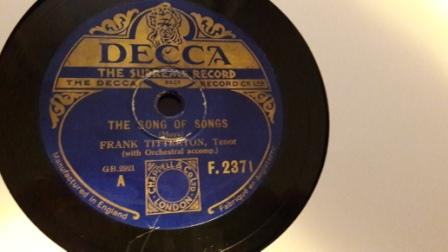 Frank Titterton - The Song of Songs - Decca F.2356 VG
