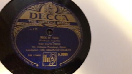 Bach Choir - Abide with Me / Rock of Ages - Decca F.8989
