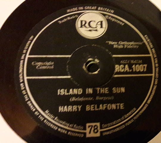 HARRY BELAFONTE - ISLAND IN THE SUN - RCA UK PRESS