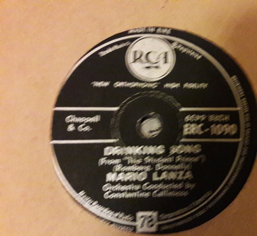 Mario Lanza - Drinking Song - RCA ERC.1090 Irish