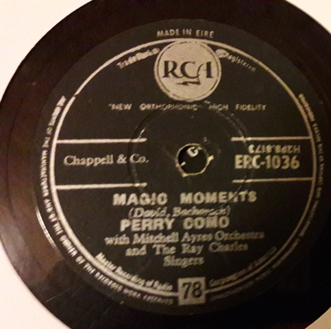 Perry Como - Magic Moments - RCA ERC.1036 Irish