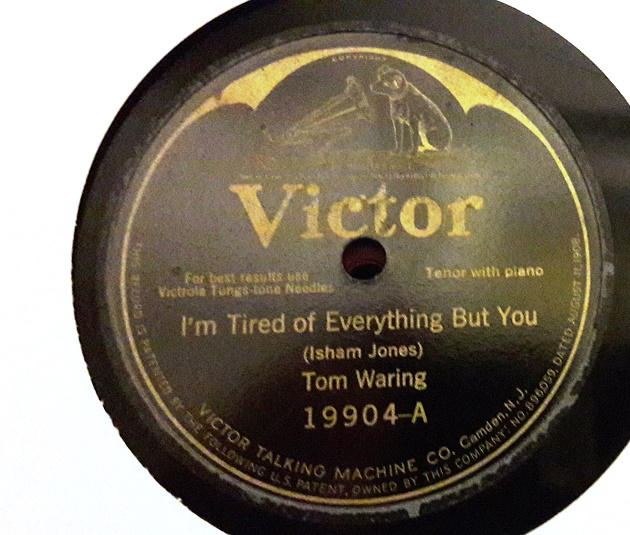 Tom Waring - I'm tired of everything but you - Victor 19904 VG