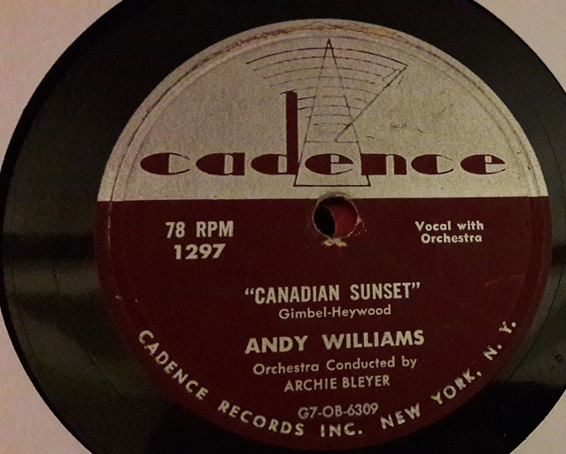 Andy Williams - Canadian Sunset - Cadence 1297 USA