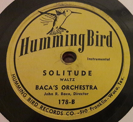 Baca's Orchestra - Two Canaries - Humming Bird 178 USA E