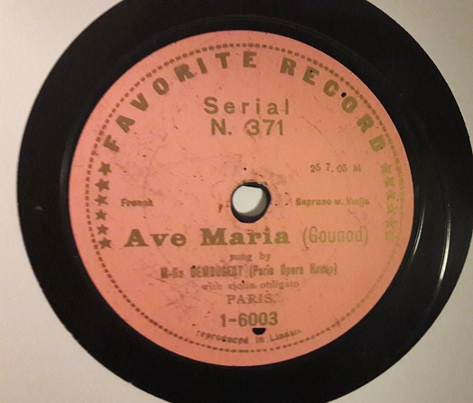 Marcelle Demougeot - Ave Maria - Favorite 1-6003 VG