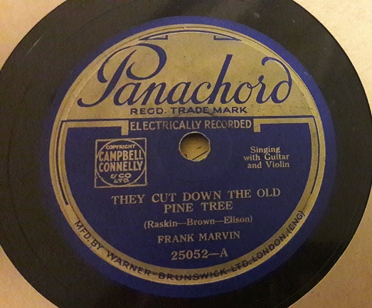 Frank Marvin - They cut down old pine trees - Panachord 25052