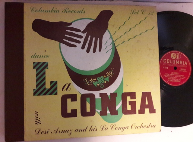 Desi Arnaz - Dance La Conga - Columbia Set C-12 - 4 x 78 USA
